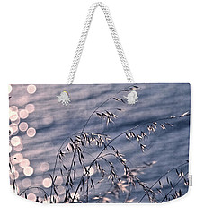 Light Bubbles And Grass Weekender Tote Bag by Jocelyn Kahawai