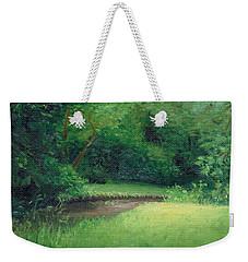 Weekender Tote Bag featuring the painting Light In August by Joe Winkler