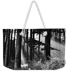 Weekender Tote Bag featuring the photograph Light Through The Trees by Don Schwartz