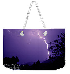 Lightning Over The Rogue Valley Weekender Tote Bag