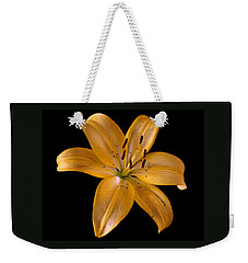 Weekender Tote Bag featuring the photograph Lily by Karen Harrison
