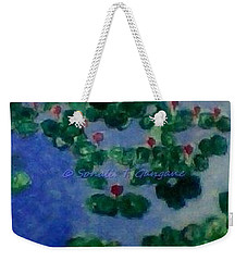Weekender Tote Bag featuring the painting Lily Pond by Sonali Gangane