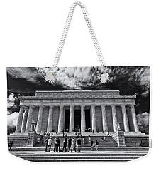 Lincoln Memorial In Black And White Weekender Tote Bag
