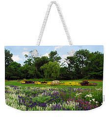 Weekender Tote Bag featuring the photograph Lincoln Park Gardens by Lynn Bauer