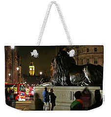 Weekender Tote Bag featuring the photograph Lion An Ben by Pedro Cardona