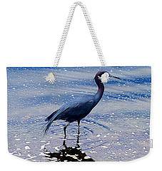 Weekender Tote Bag featuring the photograph Lit'l Blue by Elizabeth Winter