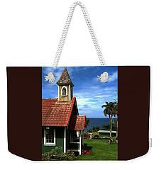 Little Green Church In Hawaii Weekender Tote Bag