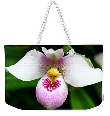 Little White And Pink Orchid Weekender Tote Bag