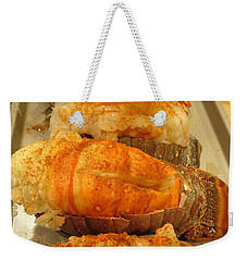 Weekender Tote Bag featuring the photograph Lobster Fest by Kay Novy