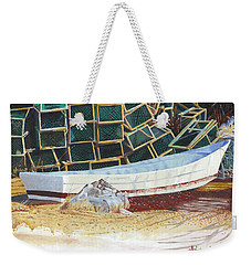 Lobster Traps And Dory Weekender Tote Bag