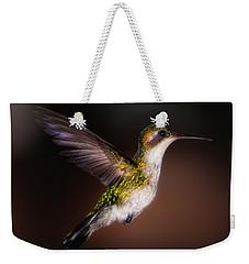Lone Hummingbird Weekender Tote Bag