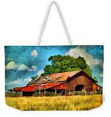 Long Road Barn Weekender Tote Bag by Lynne Jenkins
