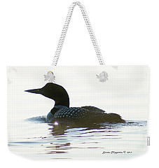 Weekender Tote Bag featuring the photograph Loon 3 by Steven Clipperton