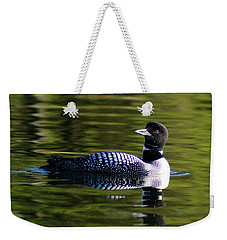Weekender Tote Bag featuring the photograph Loon 4 by Steven Clipperton