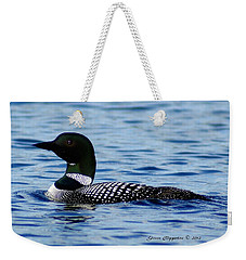 Weekender Tote Bag featuring the photograph Loon 5 by Steven Clipperton