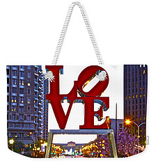 Weekender Tote Bag featuring the photograph Love In Philadelphia by Alice Gipson