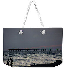 Love On The Beach Weekender Tote Bag