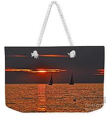 Red Maritime Dream Weekender Tote Bag