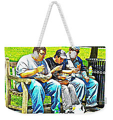 Weekender Tote Bag featuring the photograph Lunchtime by Alice Gipson