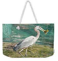 Weekender Tote Bag featuring the photograph Lunchtime by Laurel Best