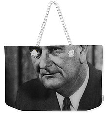 Weekender Tote Bag featuring the photograph Lyndon B Johnson by International  Images