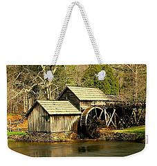 Mabry Mill In Winter Weekender Tote Bag by Myrna Bradshaw