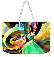 Weekender Tote Bag featuring the digital art Magic Rings by Phil Perkins