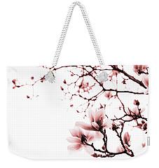 Magnolia - Monochrome Weekender Tote Bag by Laura Melis