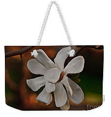 Weekender Tote Bag featuring the photograph Magnolia Bloom by Barbara McMahon