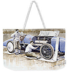 Malcolm Campbell Sunbeam Bluebird 1924 Weekender Tote Bag