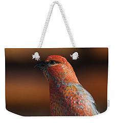 Male Pine Grosbeak Weekender Tote Bag