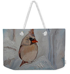 Weekender Tote Bag featuring the painting Mama's On Her Way Home by Julie Brugh Riffey