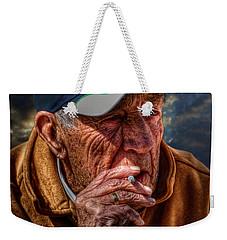 Man Smoking Weekender Tote Bag