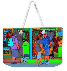 Man With Dog Weekender Tote Bag