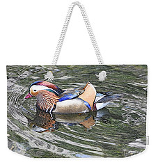 Weekender Tote Bag featuring the photograph Mandarin Duck  by Lydia Holly