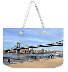 Manhattan Bridge1 Weekender Tote Bag by Zawhaus Photography