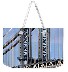 Manhattan Bridge3 Weekender Tote Bag by Zawhaus Photography