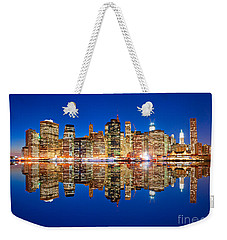 Weekender Tote Bag featuring the photograph Manhattan by Luciano Mortula