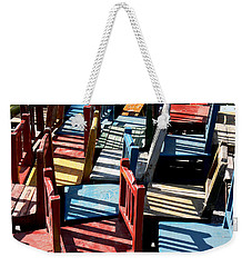 Weekender Tote Bag featuring the photograph Many Seats For Learning by EricaMaxine  Price