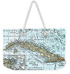 Map Of Cuba Weekender Tote Bag