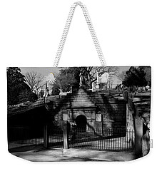 Weekender Tote Bag featuring the photograph Masoleum2 by Karen Harrison