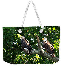 Weekender Tote Bag featuring the photograph Mating Pair by Randall Branham