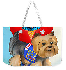 Medical Alert Yorkie Weekender Tote Bag
