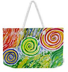 Weekender Tote Bag featuring the painting Meditation by Sonali Gangane