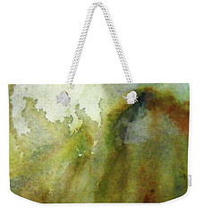 Weekender Tote Bag featuring the painting Melting Mountain by Anna Ruzsan