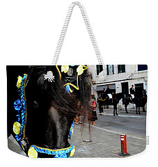 Weekender Tote Bag featuring the photograph Menorca Horse 1 by Pedro Cardona