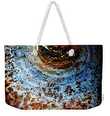 Weekender Tote Bag featuring the photograph Metallic Fluid by Pedro Cardona