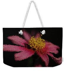 Weekender Tote Bag featuring the digital art Midnight Bloom by Lauren Radke