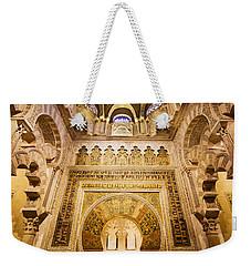Mihrab And Ceiling Of Mezquita In Cordoba Weekender Tote Bag