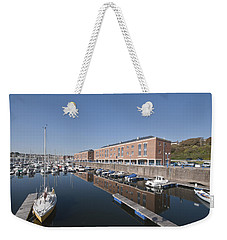 Weekender Tote Bag featuring the photograph Milford Haven Marina 2 by Steve Purnell